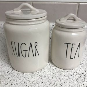 Rae Dunn Large Sugar & Baby Tea Canisters
